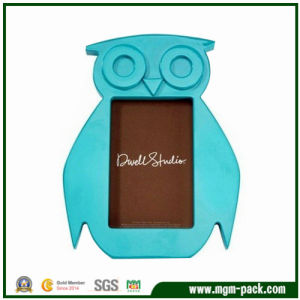 Special Owl-Shaped Blue Wooden Photo Frame Art pictures & photos