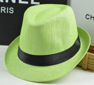 Fashion Basic Colourful Paper Straw Fedora Tribly Hat pictures & photos