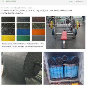Rubber Flooring Gym Flooring Rubber Roll Rubber Tiles pictures & photos