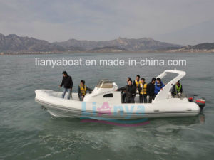 Liya 8.3m 20 Persons Rigid Inflatable Yacht Luxury Cabin Rib Boat pictures & photos