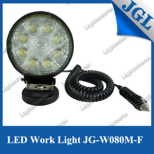 Trucks/Forklifts/Atvs 1800lm Super Bright 24W LED Work Light Magnet Base