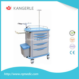Ce/ISO ABS Crash Cart/Hospital Cart/Emergency Trolley