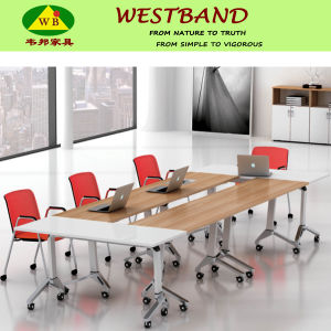 High End Modern Metal Wooden Folding Training Table