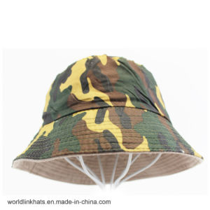 Custom Reversible Camo Bucket Cap Army Camouflage Camp Fisherman Cap 586184d2bba
