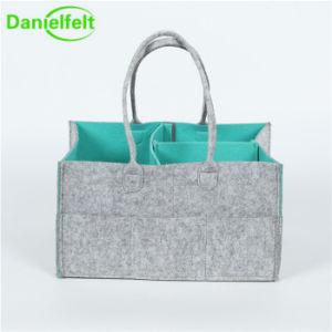 fa0319588f China Stylish Felt Diaper Caddy Diaper Wipes Storage Organizer Bag ...
