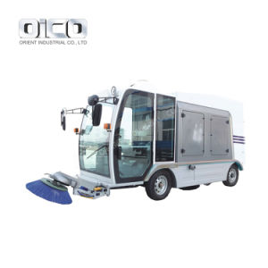 Large Size Lithium Battery Powered Public Garden Ride on Floor Sweeper Vacuum Truck for Sale