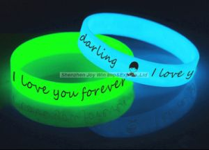 Glowing In The Dark Rubber Bracelets For Birthday