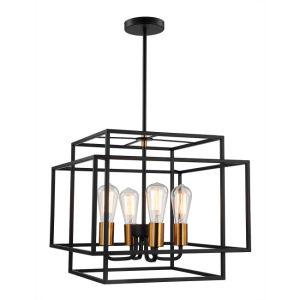 Industrial Style Lighting Vintage Pendant Lamp In Black