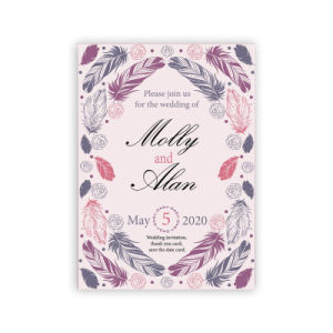Wholesales Top Quality Popular Baptism Wedding Invitation Card