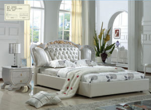 China Exporting White Color Royal Bedroom Furniture Sets (A8080)
