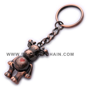 3D Metal Brass Silver Custom Cow Keychain (BK53151) pictures & photos