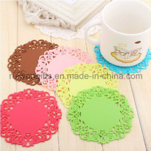 Flower Design Silicone Coaster Set pictures & photos