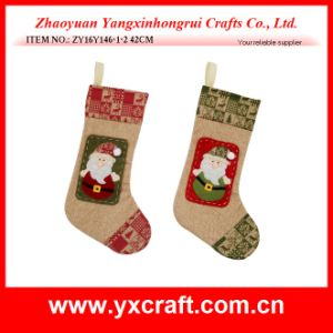 Christmas Decoration (ZY16Y146-1-2 42CM) Christmas Linen Customized Decoration pictures & photos