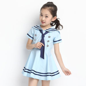 Pinafore School Uniform Factory Kindergarten Uniforms Pinafore Dress pictures & photos