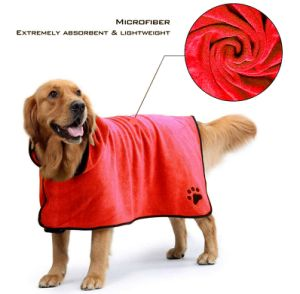 Absorbent Bathrobe Warm Grooming Quick Drying Dog Cat Towel Wholesale Pet Supply