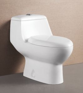 Gentil European Bathroom Ceramic Water Closet Siphon Vortex Toilet
