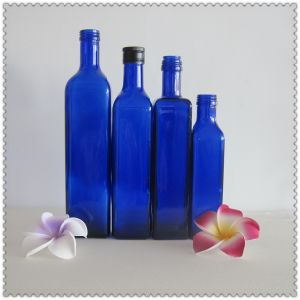 500ml Blue Glass Olive Oil Bottle pictures & photos