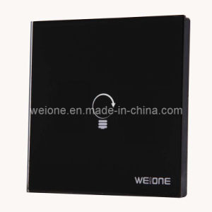 OEM/ODM RF Radio Frequency Tempereted Glass 1 CH Remote Control Wireless Switch