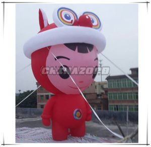 Big Cartoon Girl Character Inflatable Advertising Replica