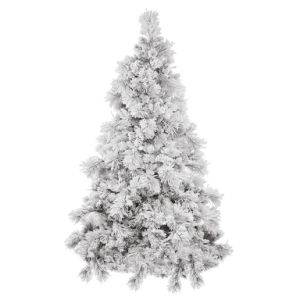 snowy artificial christmas tree with decoration glass craft christmas light tu7530000