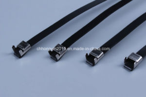 10*190 Stainless Steel Epoxy Releasable Type Coated Cable Tie