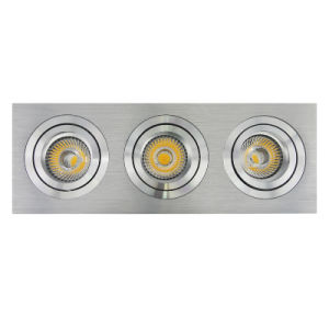 Lathe Aluminum GU10 MR16 Multi-Angle 3 Units Square Tilt Recessed LED Spotlight (LT2301-3) pictures & photos