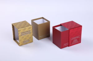 China Fashion Paper Drawer Boxes For Candle Packaging China Drawer