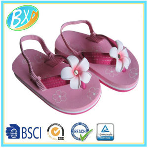 ed9113c62 China Girls EVA Wedge Sole Fabric Upper with Folwer Decorations Flip ...