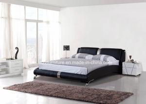 Stylish Bedroom Furniture Dubai Modern Leather Wooden Bed