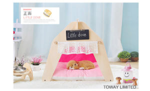 Fashion Dog Wood Tent Lace Princess Hexgon Pet House pictures & photos