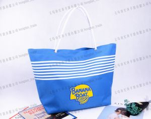 600d Screen Printing Convergent Top Beach Tote Bag