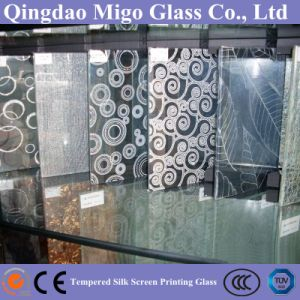 Lead-Free Silkscreen Frosted Tempered Shower Glass Door (6mm 8mm 10mm) pictures & photos