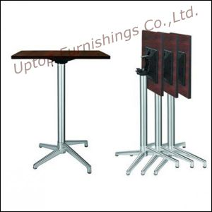 (SP-FT398) Space Save Modern Stainless Steel Bar Table Foldable pictures & photos