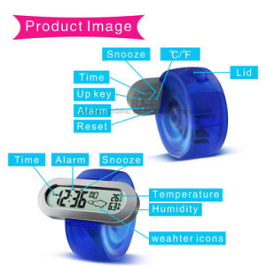 Novelty Gift Eco Friendly Unique Multicolor Digital Water Power Desk Clock pictures & photos