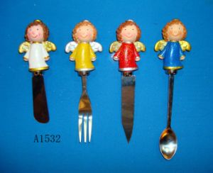Stainless Steel Spoon with Resin Angel Handle pictures & photos