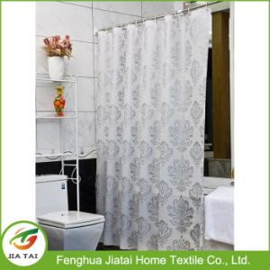 Environmentally Mildew Resistant Waterproof PEVA Bath Shower Curtain with Curtain Rings