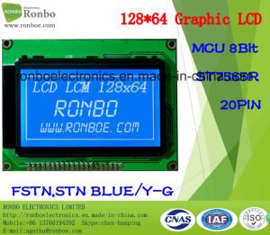 128X64 Graphic LCD Module, MCU 8bit, St7565r, 20pin, COB LCD Monitor pictures & photos