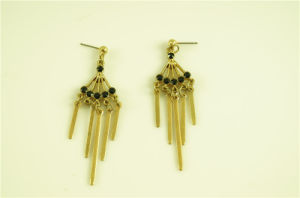 Fashion Stone with Alloy Bar Earring