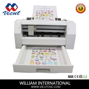 High Precision Red Light Position Digital Sheet Vinyl Label Die Cutter pictures & photos
