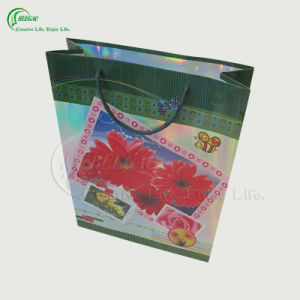 Flower Design Paper Bag (KG-PB024)