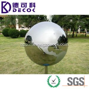 36 Inch Polishing Garden Decorative Ornament Hollow Round Metal Sphere pictures & photos