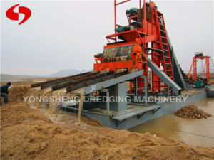 Dredger with Gold Bed in River