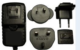 18V 900mA Model Interchangeable Plugs AC/DC Adapter