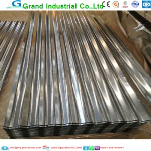 Galvanized Standard with No Colour Corrugated Roofing pictures & photos