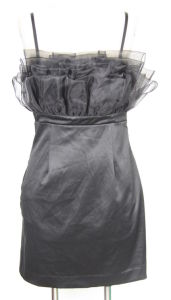 Ladies Dress With Organza On Bust(40000520)