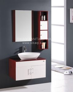 Oak Wood Bathroom Cabinet with Good Prices pictures & photos
