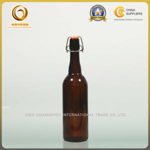 Flip Top Long Neck 750ml Amber Beer Glass Bottle (016) pictures & photos