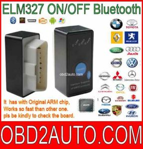 Mini Elm327 on/off Swith OBD2 Scanner Auto Code Reader Bluetooth Version V2.1