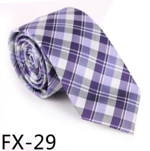 New Design Fashionable Silk/Polyester Check Tie Fx29 pictures & photos