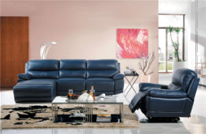 Living Room Sofa with Modern Genuine Leather Sofa Set (454)